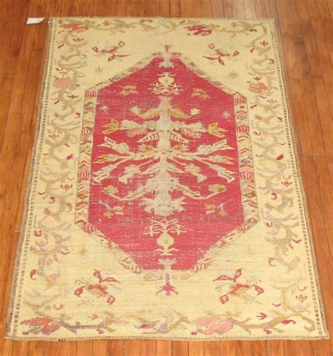 shabby chic antique turkish ghiordes area rug for sale at