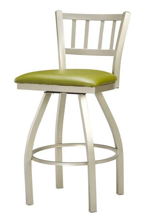 commercial swivel bar stools with backs regal seating 309 jailhouse back counter height commercial
