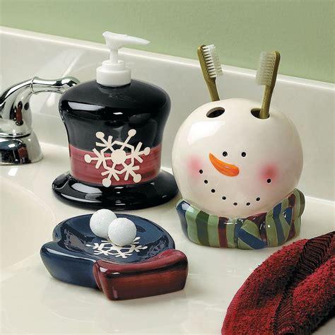 snowman bathroom set snowman bathroom accessories orientaltrading com