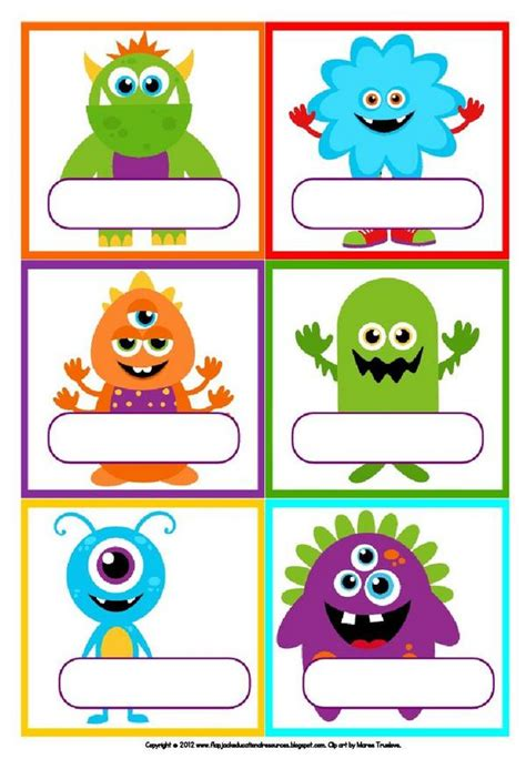 printable monster name tags future kids on twitter quot your child s very own spooky