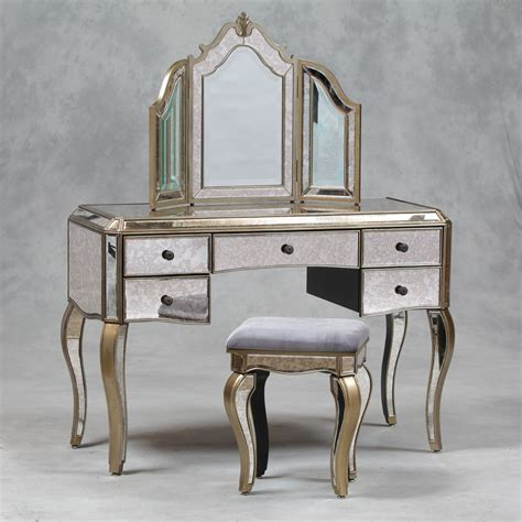 venetian antique mirrored silver edged dressing table - Mirrored Dressing Table