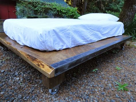 how wide is queen size bed rustic wood and steel platform bed queen size 76 inches