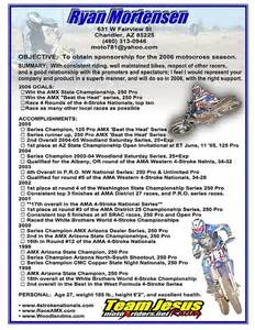 Sponsorship Letter For Riders How To Write A Racing Resume