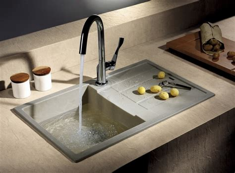 Granite Kitchen Sinks Pros And Cons Granite Composite Sinks When You Want Reliability And Aesthetics Deavita