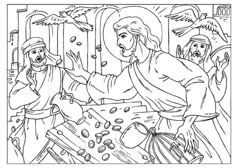 coloring page jesus cleansing temple jesus cleanses the temple coloring page coloring pages