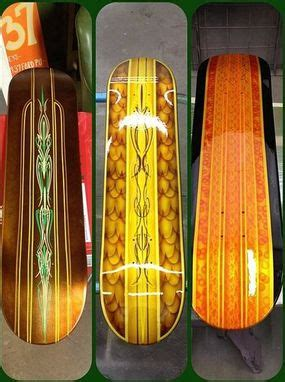hand  custom painted skateboards   penny studios