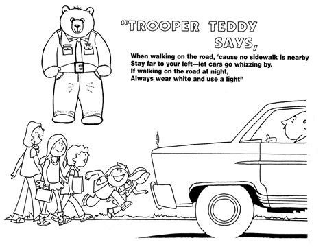 free coloring pages of road safety