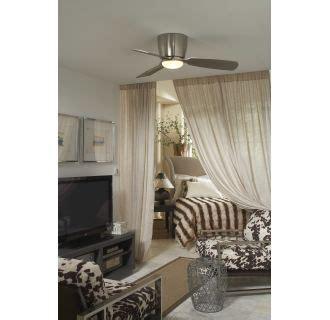 44 embrace 3 blade ceiling fan fanimation fps7981bn brushed nickel 44 quot flush mount