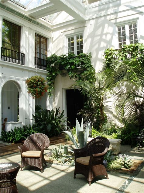 gorgeous covered courtyard   indoor  outdoor