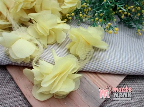 Bunga Frill Lusinan Bunga Frill Aplikasi Bunga Frill aplikasi bunga frill kuning muda apb 038 montemanik