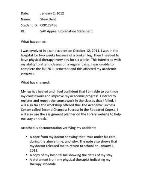 Financial Aid Appeal Letter Sle Low Gpa Writing A Successful Sap Appeal Financial Aid Wayne State