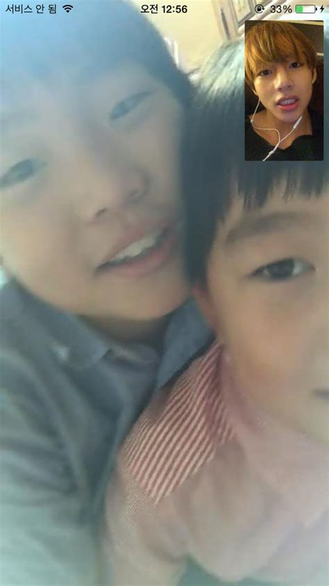 bts v siblings taetae and his sister and brother we heart it bts