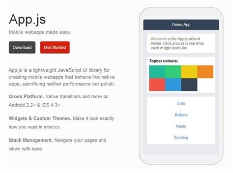 js app pattern app js javascript ui library for mobile web apps