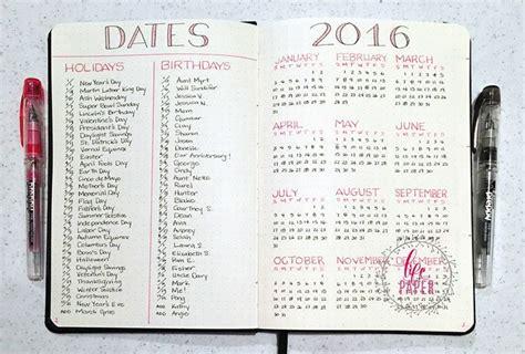 bullet journal tips 25 unique bullet journal birthday tracker ideas on