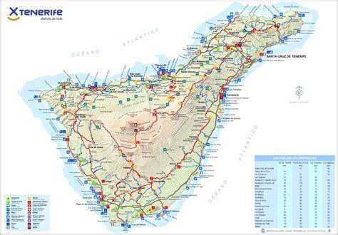 Printable Map Tenerife | tenerife tourist map