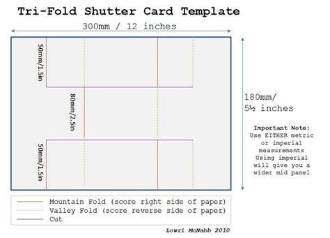 folding card template tri fold cards papervine