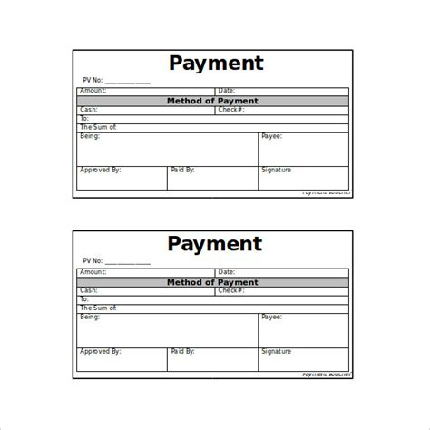 printable payment book template 11 payment coupon templates free sle exle