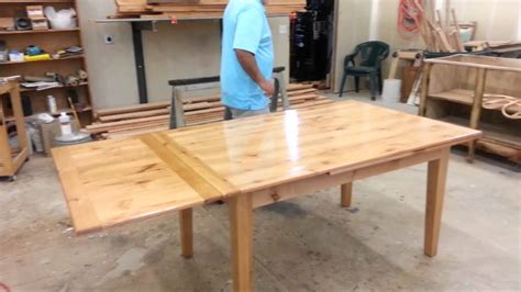 modern dining table with pull out leaves seats ten at 1stdibs dutch pullout table youtube
