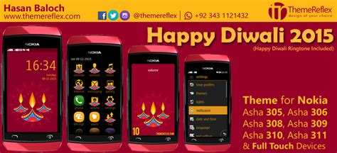 themes for nokia c2 01 with media player skin happy diwali 2015 theme for nokia series 40 devices