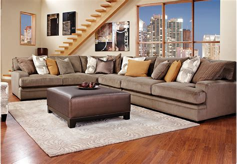cindy crawford home decor cindy crawford home essex street granite 6 pc sectional