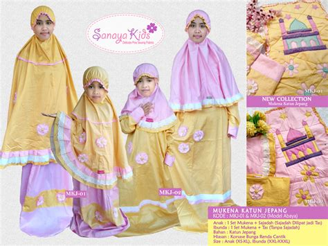 Mukena Katun Point Sajadah Xs mukena anak lucu sanaya collection