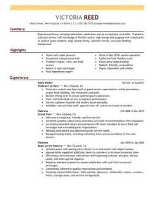 server resume exle restaurant bar sle resumes