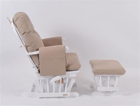 habebe recliner glider chair habebe glider chair stool white wood beige washable