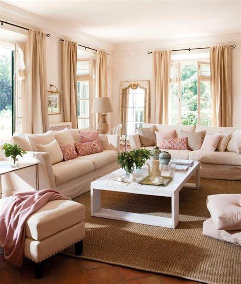 vorhange schlafzimmer pastell wohnzimmer wandfarbe cremewei 223 rosa akzente beige vorh 228 nge