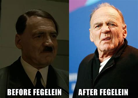 Fegelein Meme - before and after fegelein downfall hitler reacts