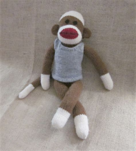 clothes pattern for sock monkey ravelry machine knit sock monkey clothes tank top