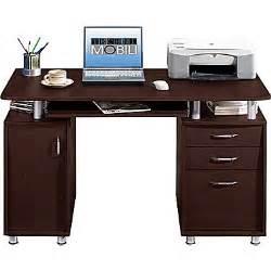Chocolate Computer Desk Techni Mobili Pedestal Laminate Computer Desk Chocolate Staples 174