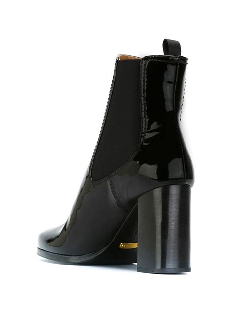car shoe high chunky heel ankled boots in black lyst