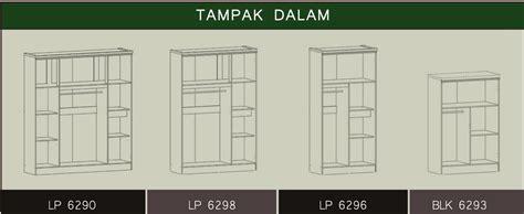 Lemari Pakaian 3pintu Minimalis Graver furniture rumah lemari pakaian 2pintu serenity series
