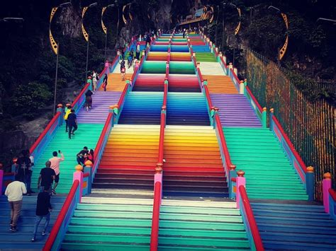 batu caves rainbow staircase leads  trouble edgepropmy