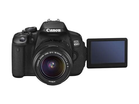 canon dslr flip screen canon launches eos 650d digital slr with 18mp sensor and