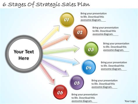 1113 Business Ppt Diagram 6 Stages Of Strategic Sales Plan Powerpoint Template Templates Sales Plan Template Powerpoint