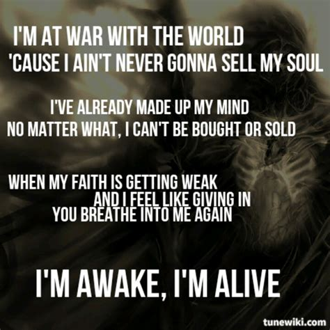 awake and alive skillet quotes quotesgram