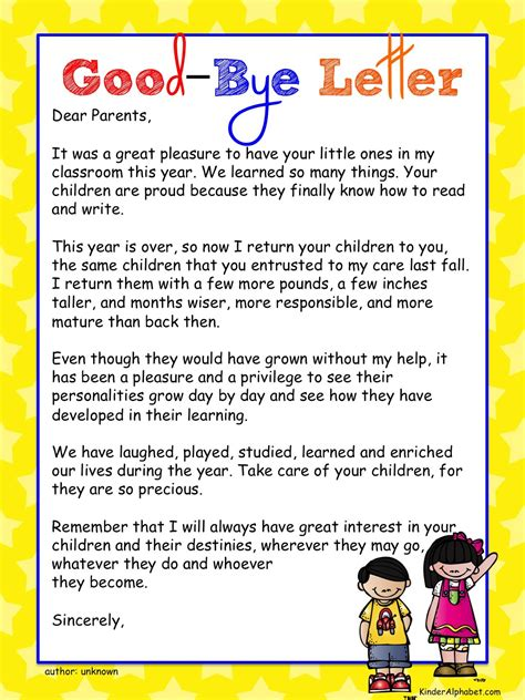 message to parents end of the year ideas