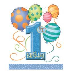 boy balloons 1st birthday party loot bags pack qty 8