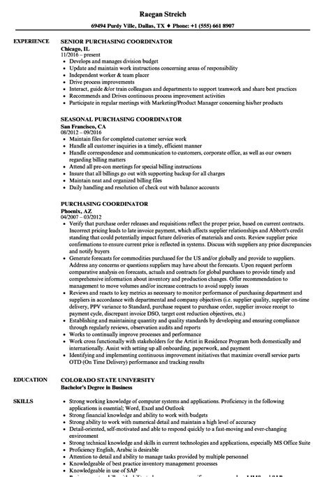 purchasing resume sle agency recruiter sle resume
