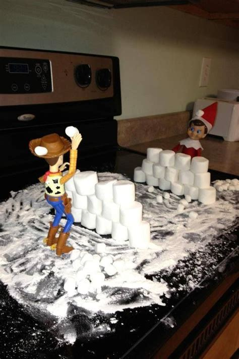 On Shelf Snowball Fight by Pin By Anjanette Mommayoung On On The Shelf Ideas