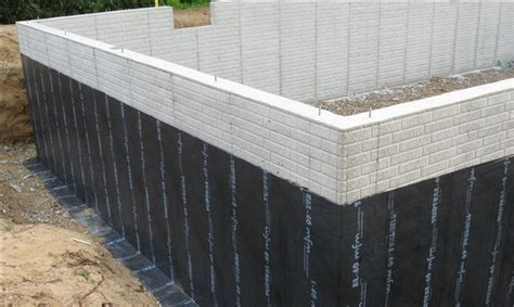 subseal  waterproofing membrane foundation siding