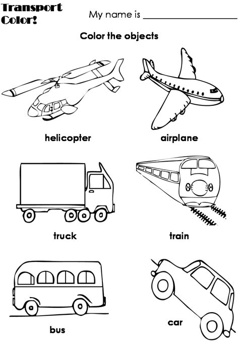Transport Coloring Pages free coloring pages of transportation vehicles