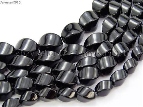 Gelang Black Onyx 10 Mm 6 black onyx gemstone swirl twisted drum 15 5 6mm 8mm 10mm 12mm jennysun2010