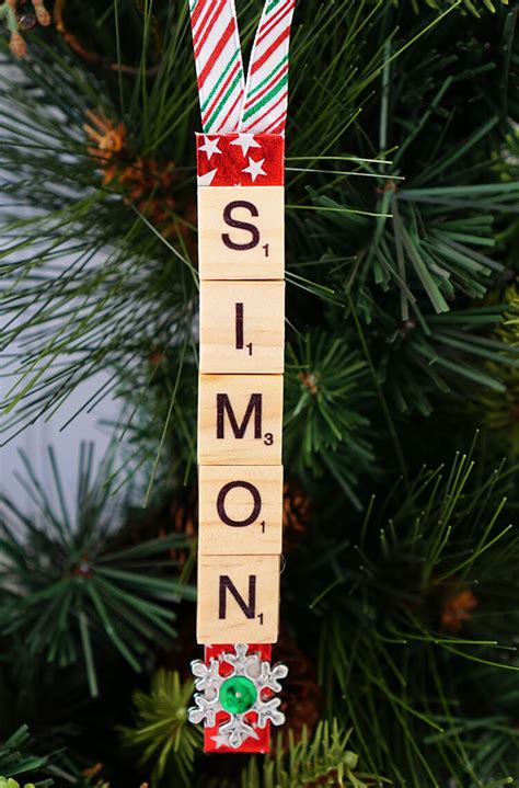 personalized scrabble tile christmas ornaments happiness