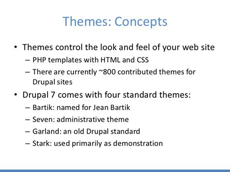 drupal themes stark getting started with drupal
