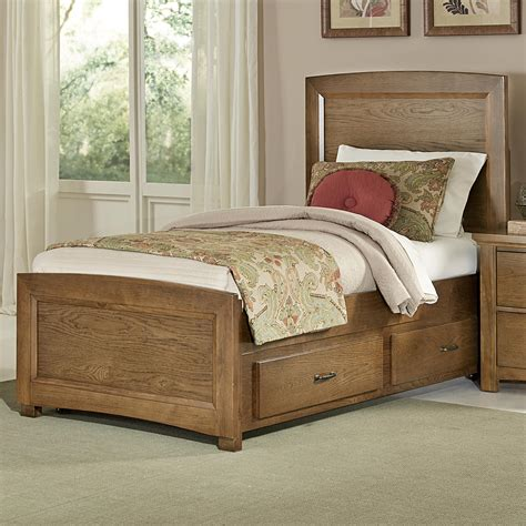 bassett beds vaughan bassett transitions twin panel bed with trundle