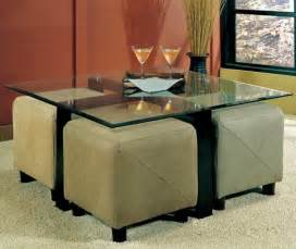 Glass Coffee Table With Ottomans Underneath Sweet Coffee Table With Storage Ottomans Underneath Design