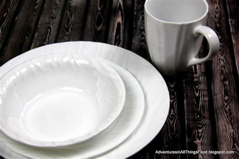 corelle swept pattern adventures in all things food holiday progressive dinner
