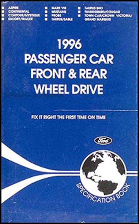 motor repair manual 1996 lincoln mark viii auto manual 1996 lincoln service specifications manual mark viii town car continental 96 ebay